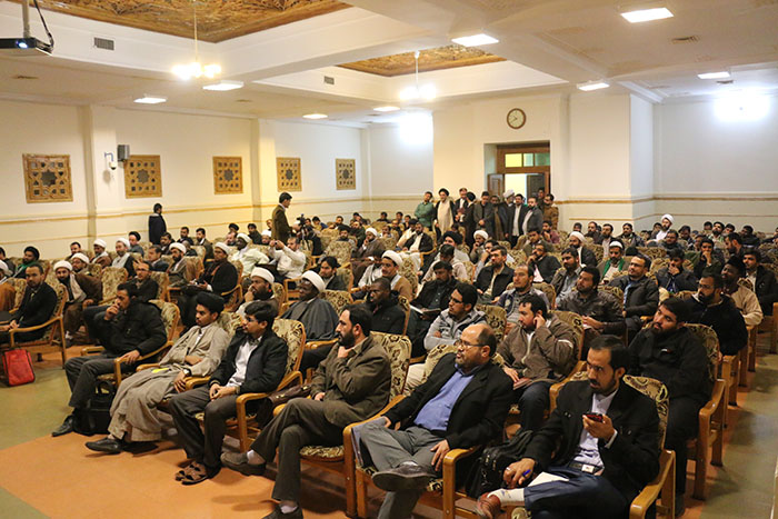 نهمین پیش نشست همایش در جامعه المصطفی العالمیه برگزار شد.38